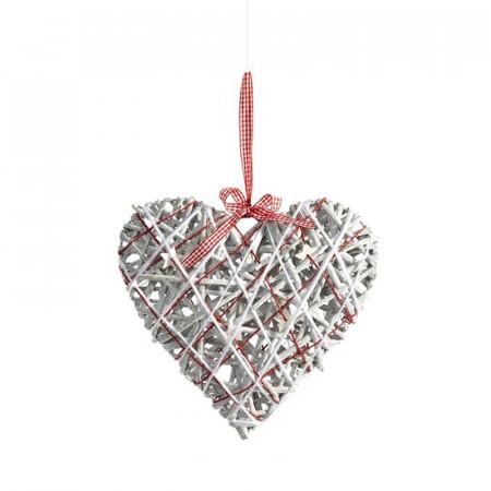 Inima decorativa din ratan