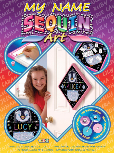 Set creativ Sequin Art 60 & My Name Pinguin