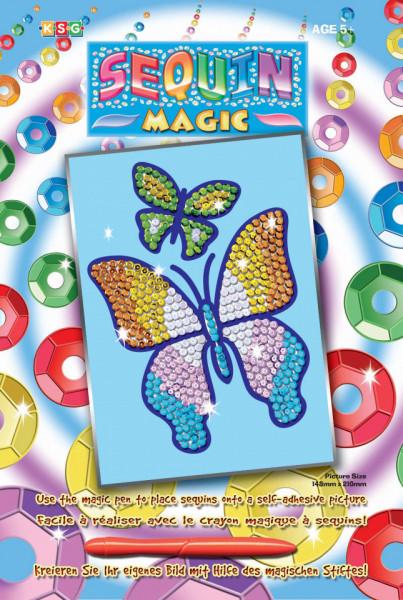 Set creativ Sequin Magic Fluturi