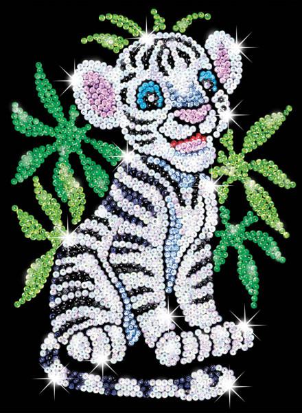 "Set creativ Sequin Art Red ""Tigrul alb"""