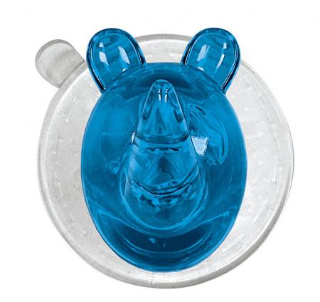 Carlig cu ventuza din plastic, albastru/transparent