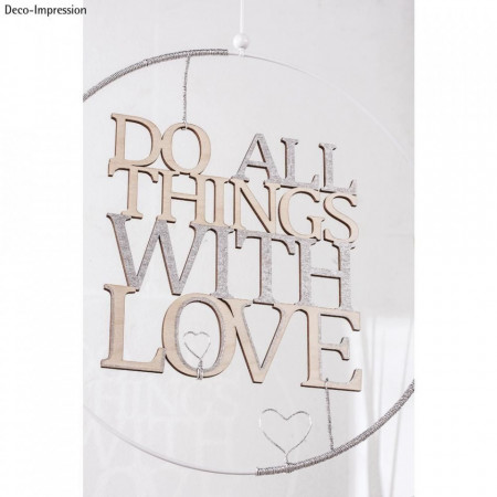 """Font din lemn"""" Do all things with love"""""""