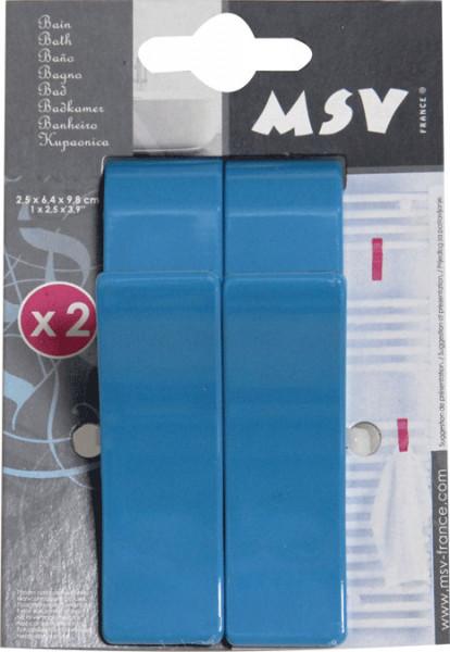 Set 2 carlige pentru prosoape, albastre
