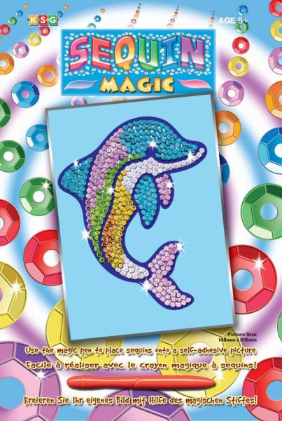 Set creativ Sequin Magic Delfin