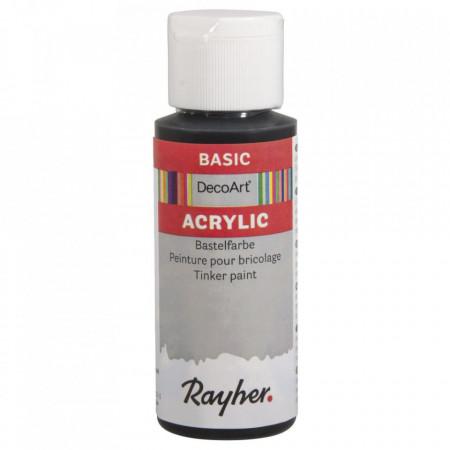 Vopsea acrilica - negru, 59 ml