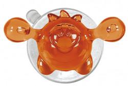 Carlig cu ventuza din plastic, portocaliu/transparent