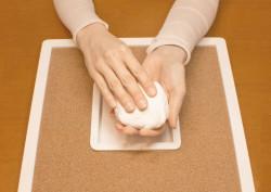 Set amprenta 3D pentru perete cu fundal din pluta