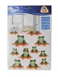 Set sticker adeziv broscute pentru baie, 16 piese
