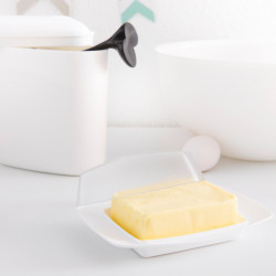 Cutie alimentara alb transparent pentru unt, RIO