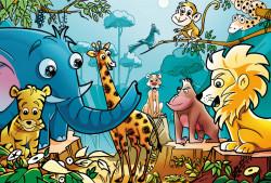 Puzzle Zoo 48 piese, 91,5x61 cm