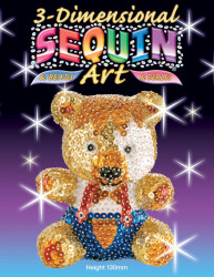 Set creativ Sequin Art 3D Ursulet