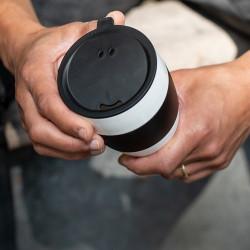 Cana cafea alb negru AROMA TO GO 2