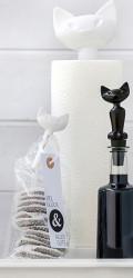 Set 2 clipsuri pentru pungi/rufe, negru cu alb, MIAOU