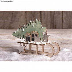 Set creativ din lemn, Peisaj iarna 3D, FCS 100 %