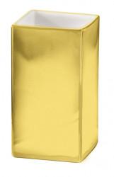 Pahar baie din ceramica, auriu