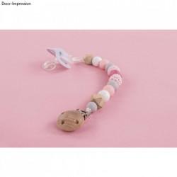 Set creativ Lant pentru suzeta, roz, 15 piese