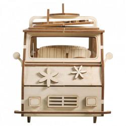 Kit din lemn autobuz de camping 3D