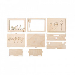 Pusculita 3D din lemn