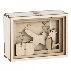 Pusculita 3D din lemn, Journey