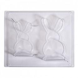 Matrita de turnare: iepuri 8x14,5x3 cm