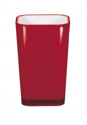 Pahar baie din plastic, rosu