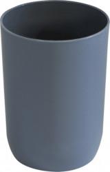 Pahar de plastic pentru baie , gri, 5.5x9.5 cm