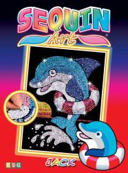 "Set creativ Sequin Art Red ""Delfin"""