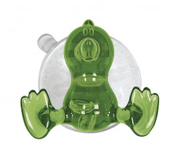 Carlig cu ventuza din plastic, verde/transparent