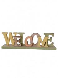 """Decoratiune din lemn """"WELCOME"""""""