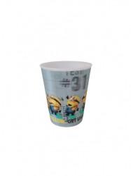 Pahar cu licenta, design Minions 3D