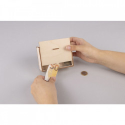 Set creativ cutie-pusculita din lemn 3D, Pestisori