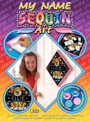"Set creativ Sequin Art 60 & My Name ""Caine"""