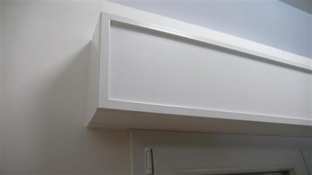 Cassonetti PVC colore bianco, altezza 350 mm, lunghezza 1600 mm, profondita massima di montaggio 300 mm
