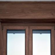 Cassonetti PVC colore legno 70 colori o verniciati 300 colori RAL, altezza 350 mm, lunghezza 1200 mm, profondita massima montaggio 330 mm