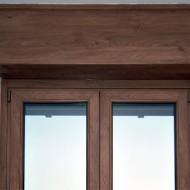 Cassonetti PVC colore legno 70 colori o verniciati 300 colori RAL, altezza 350 mm, lunghezza 1200 mm, profondita massima montaggio 150 mm