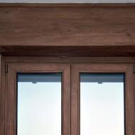 Cassonetti PVC colore legno 70 colori o verniciati 300 colori RAL, altezza 350 mm, lunghezza 2500 mm, profondita massima montaggio 150 mm