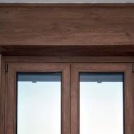 Cassonetti PVC colore legno 70 colori o verniciati 300 colori RAL, altezza 350 mm, lunghezza 1600 mm, profondita massima montaggio 150 mm