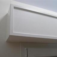 Cassonetti PVC colore bianco, altezza 350 mm, lunghezza 1800 mm, profondita massima di montaggio 300 mm