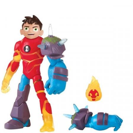 Figurina Ben 10 - Eroii Glitch: Ben -Torta Vie - Shock Rock