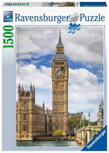 Puzzle Pisica In Big Ben, 1500 Piese