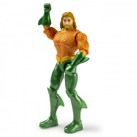 Set 2 Figurine Flexibile Aquaman Si Black Manta Cu 6 Accesorii