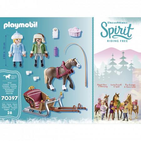 Set de joaca Playmobil Spirit, Plimbare Cu Sania
