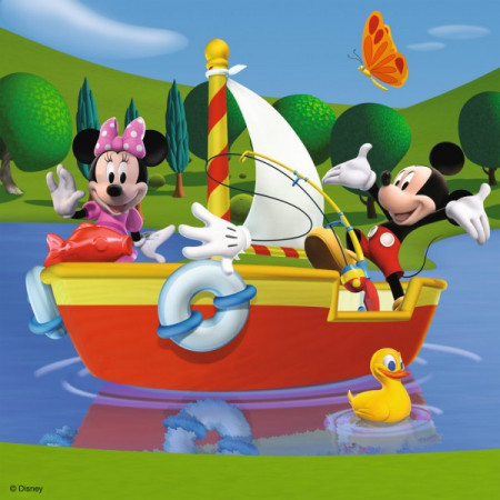 Puzzle Clubul Mickey Mouse , 3X49 Piese