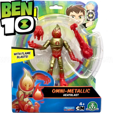 Figurina Ben 10, Metallic Heatblast - 12Cm