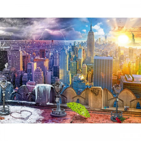 Puzzle 4 Anotimpuri New York, 1500 Piese