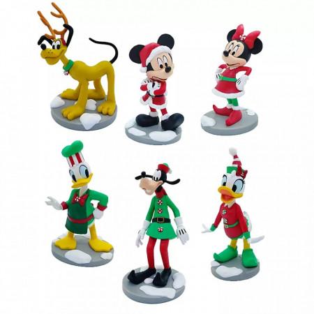 Set figurine Clubul lui Mickey Mouse - Editie de Craciun