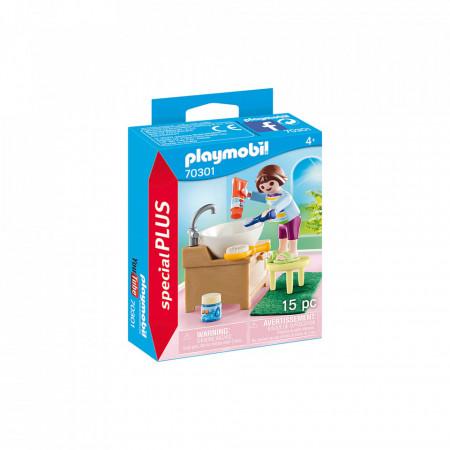 Playmobil Copil Cu Accesorii Baie