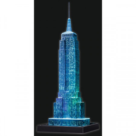 Puzzle 3D Empire State Building - Lumineaza Noaptea, 216 Piese