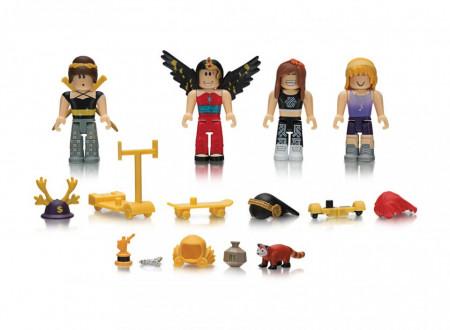 Set de joaca cu 4 figurine Roblox, model Builld A Billionaire Heiress Mix & Match Set