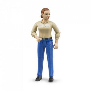 Bruder - Figurina Femeie Cu Pantaloni Albastri